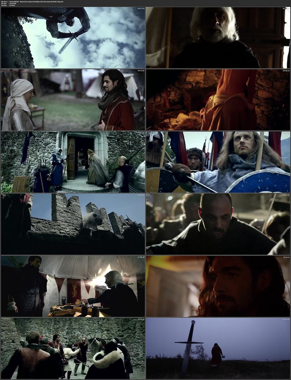 Richard the Lionheart Rebellion 2015 Dual Audio Hindi ENG BluRay 720p