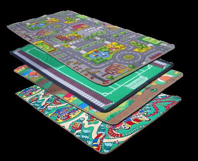 tapis de jeux tapis de route city 80 150 neuf. Black Bedroom Furniture Sets. Home Design Ideas