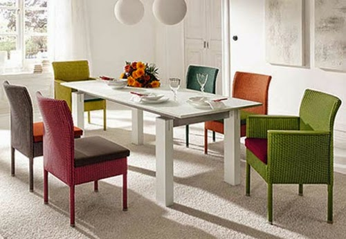 Colorful chairs for dining rooms modern