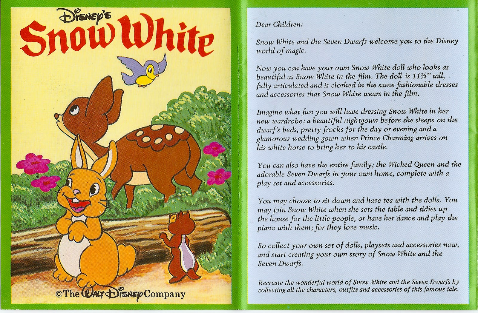 3fa03d31ac Here s a promotional fold-out booklet showing what was available in the Snow  White line. Princess and Prince
