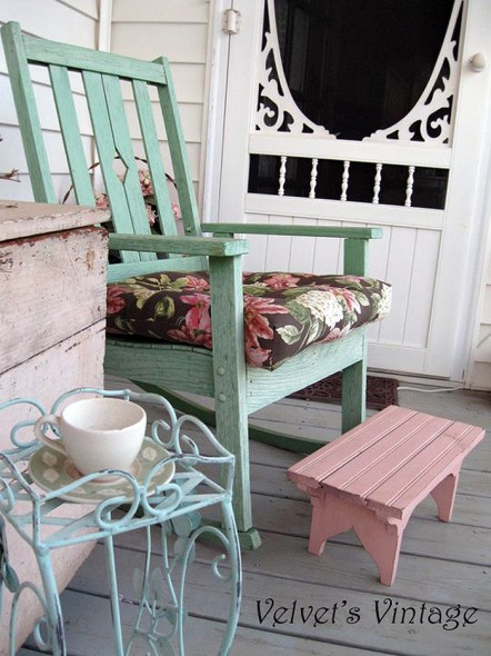 Shabby chic porch on pinterest porches cottage porch for Shabby chic porch ideas