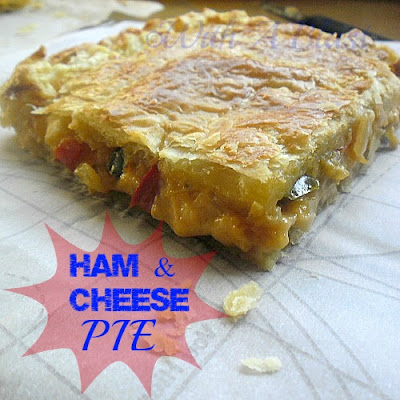 With A Blast: Ham & Cheese Pie  { quick and easy! }  #savorypie  #puffpastry  #ham #cheese