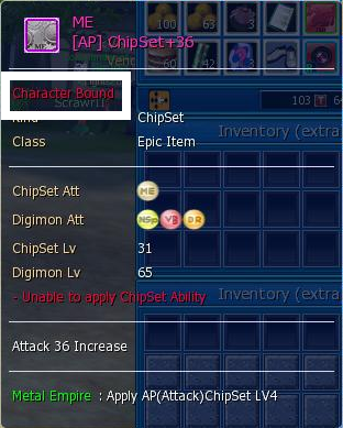 digimon masters online chipset, metal empire