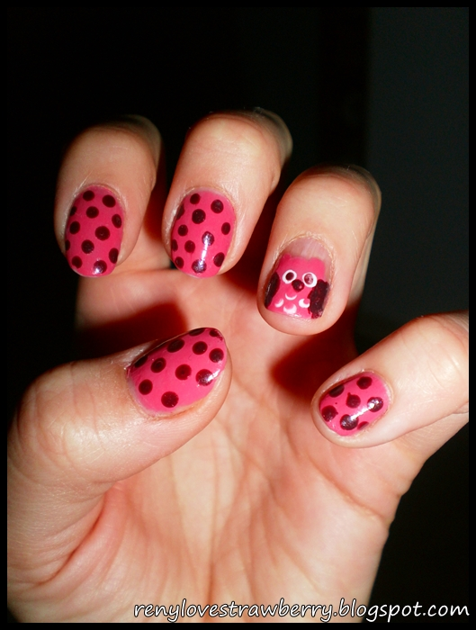 Strawberry Love By Reny Pink Owl Nail Design