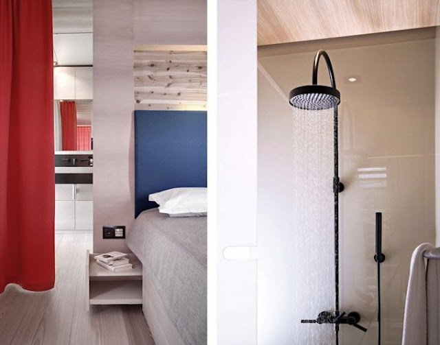 Ванная комната в красивом овальном доме