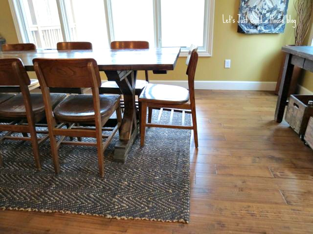 Dining Room Changes Chevron Jute Rug