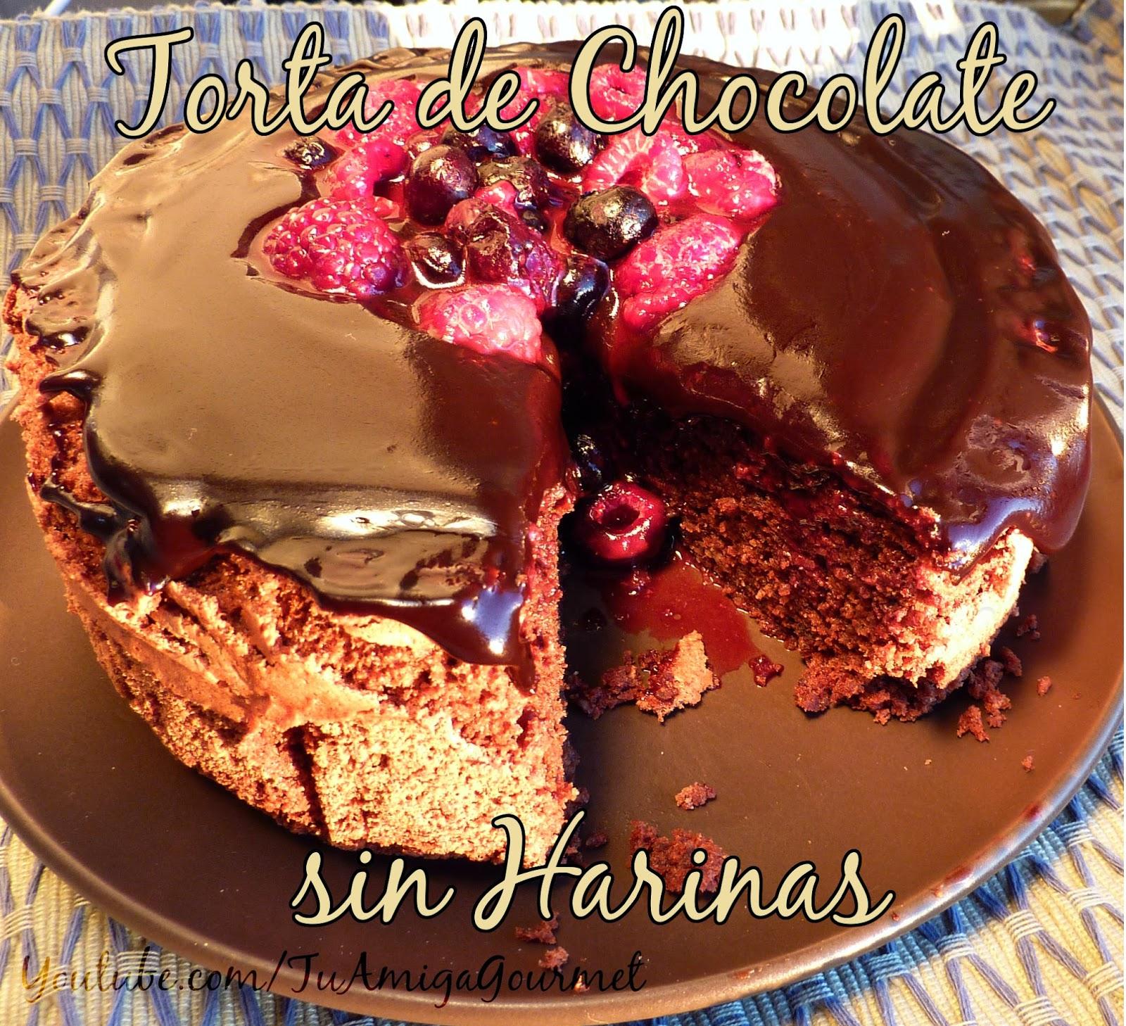 Receta: Pastel de Chocolate con Almendras sin harinas