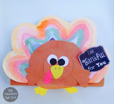 Create a Turkey Chocolate Wrapper with kids for a fun gift of gratitude