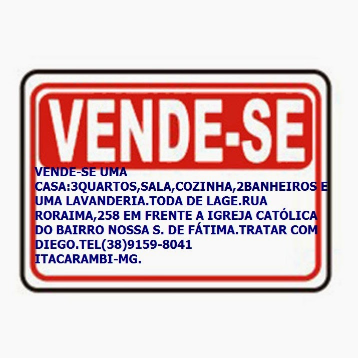 VENDE-SE CASA