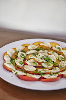 Insalata Caprese with Peaches