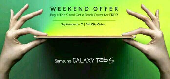 Samsung Galaxy Tab S with FREE Book Cover this Weekend at Cebu