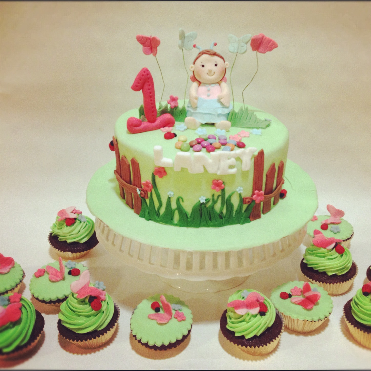 Birthday cake ideas garden image inspiration of cake and for Gardening 80th birthday cake