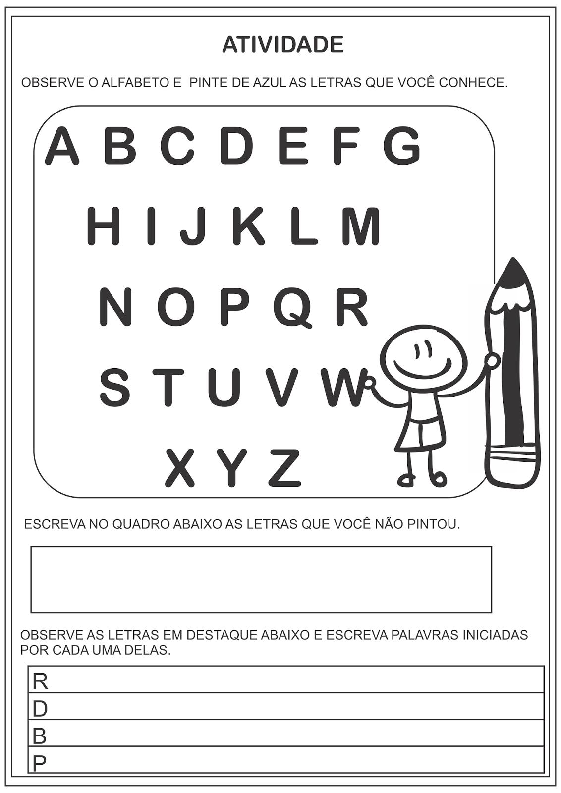 Atividades Alfabetização Identidade Sondagem para Ensino Fundamental