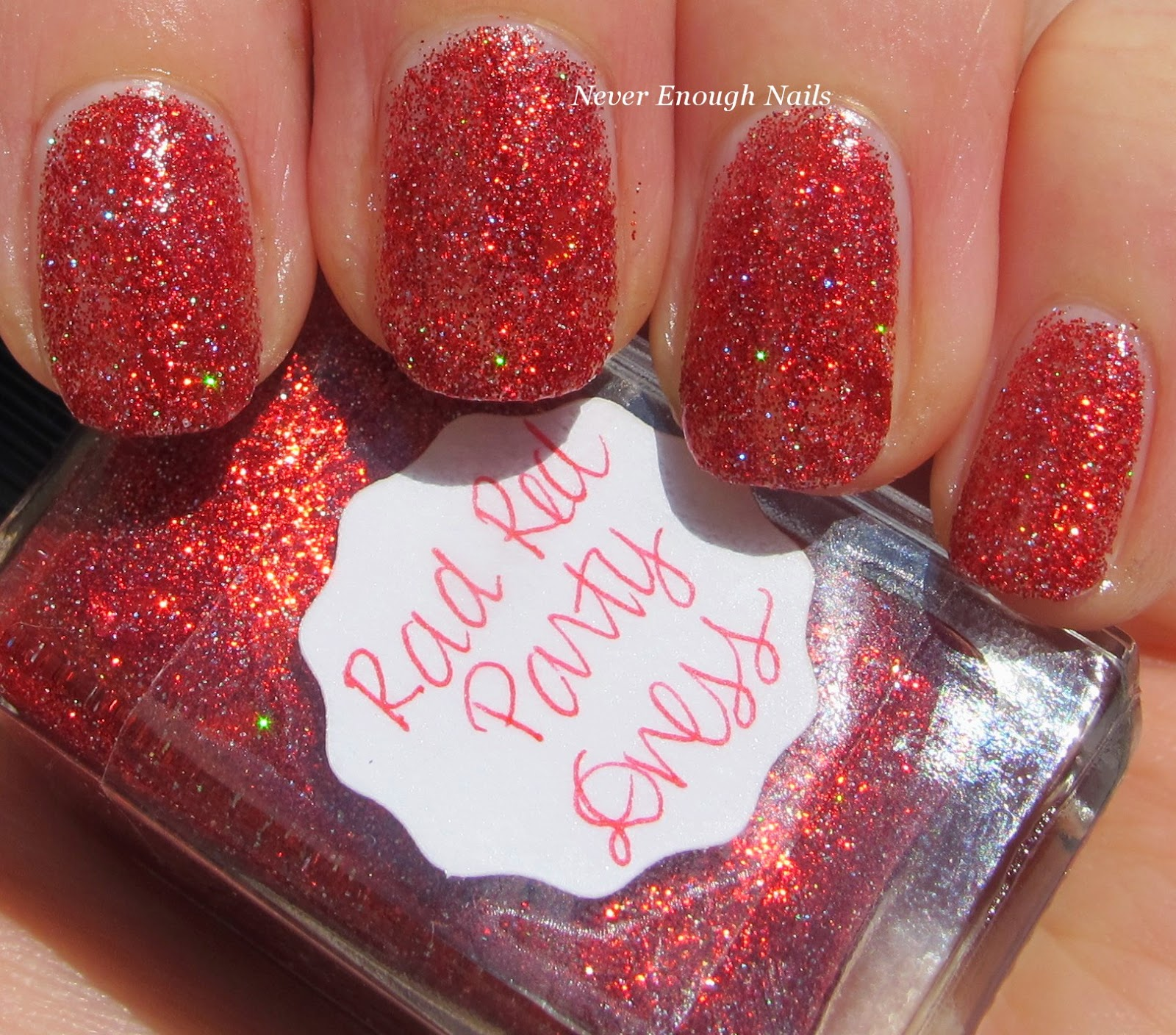 Never Enough Nails: Red Glitter Two Ways with Lynnderella!