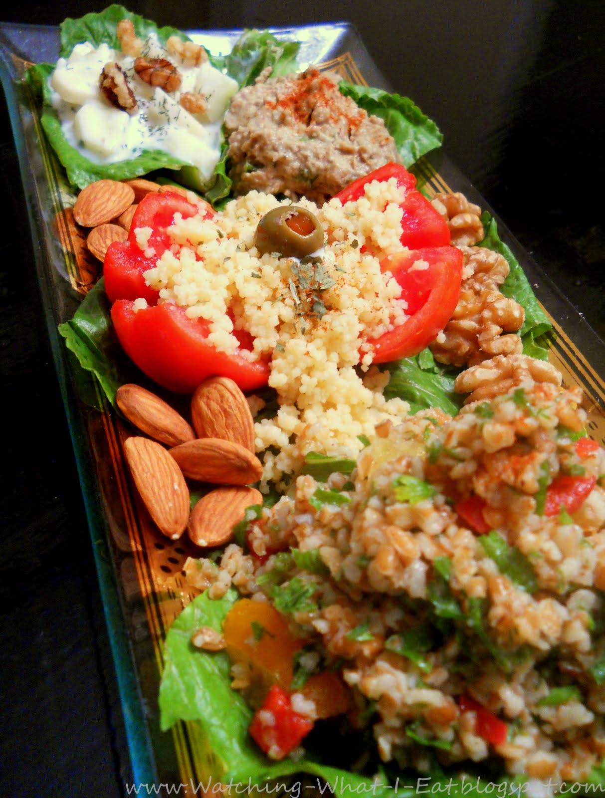 Middle Eastern Salads & Spreads ~ so much fresh flavor