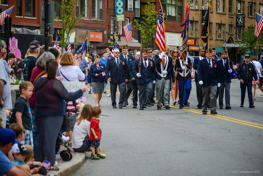 Portland, Maine May 2015 Memorial Day parade on Congress Street photo by Corey Templeton.