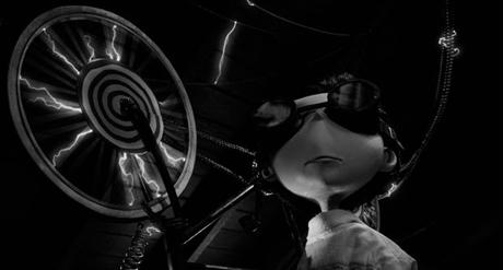 "Fotograma de la película ""Frankenweenie"" de Tim Burton"