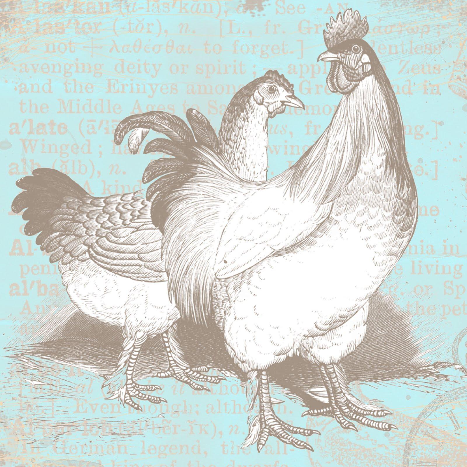 Scrapbook paper store - Free Digital Scrapbook Paper Vintage Chickens