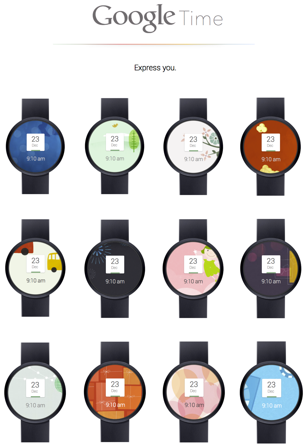 The google watch how it would look like for Watches google