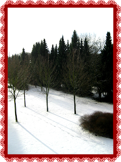 First snow of the season in Germany on Saint Nikolaus Day
