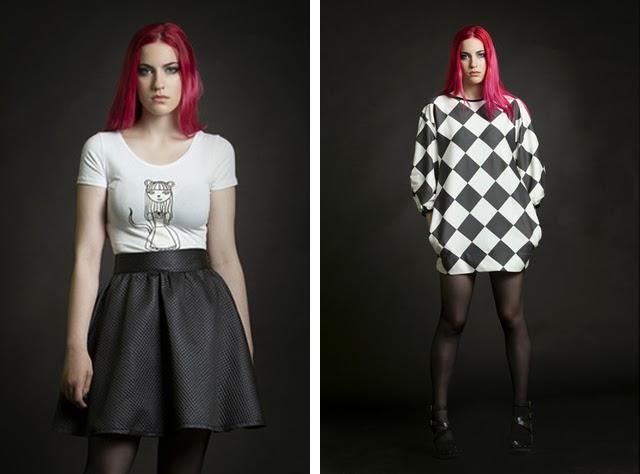yiddish chutzpah, punk, cute print, girly fashion