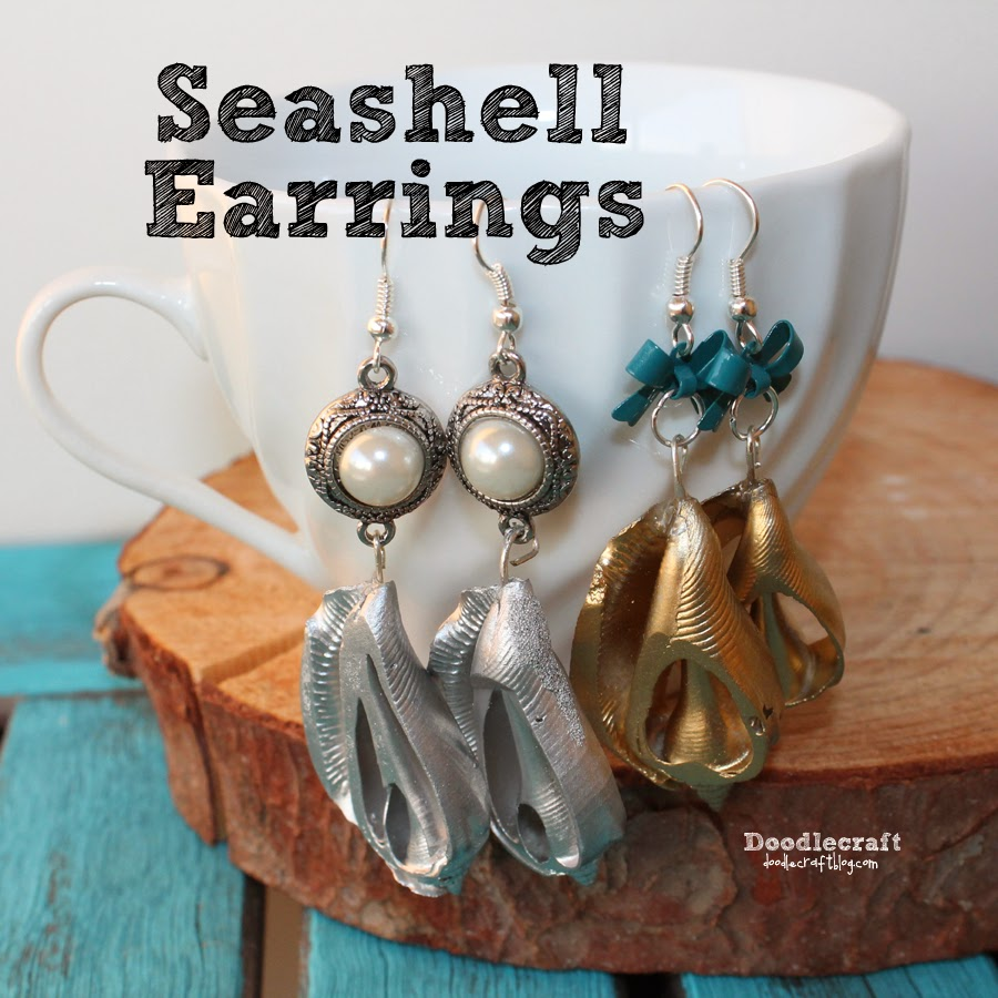http://www.doodlecraftblog.com/2014/08/seashell-dangle-earrings.html