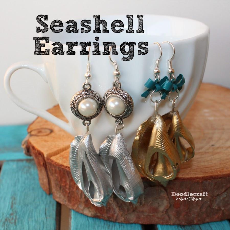 http://www.doodlecraftblog.com/2014/08/seashell-dangle-earrings.html