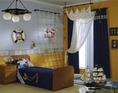 habitación infantil naútica