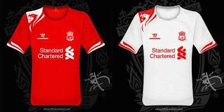 Kostum Liverpool Terbaru 2013