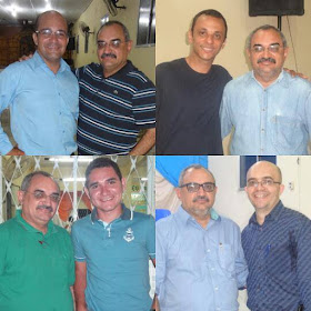 Assis Benção, Wellington Augusto, Alberto e Prof. Gil.