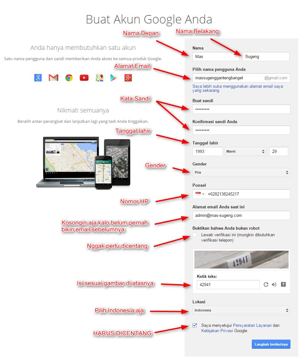 Cara Membuat Email Gratis di Google