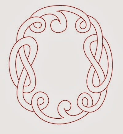 O Celtic calligraphy monogram tattoo stencil