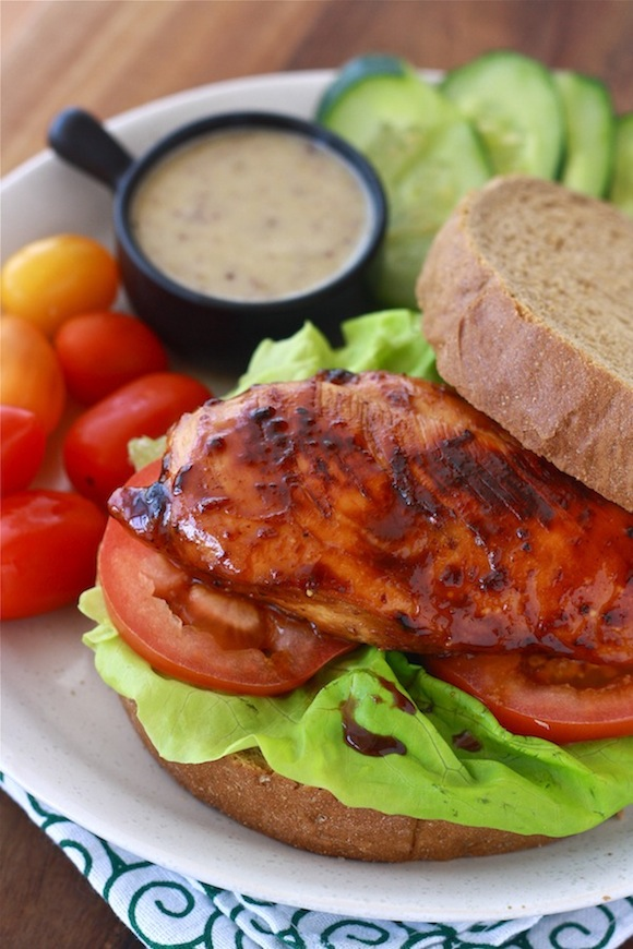 Honey-glazed chicken sandwich recipe by Season with Spice