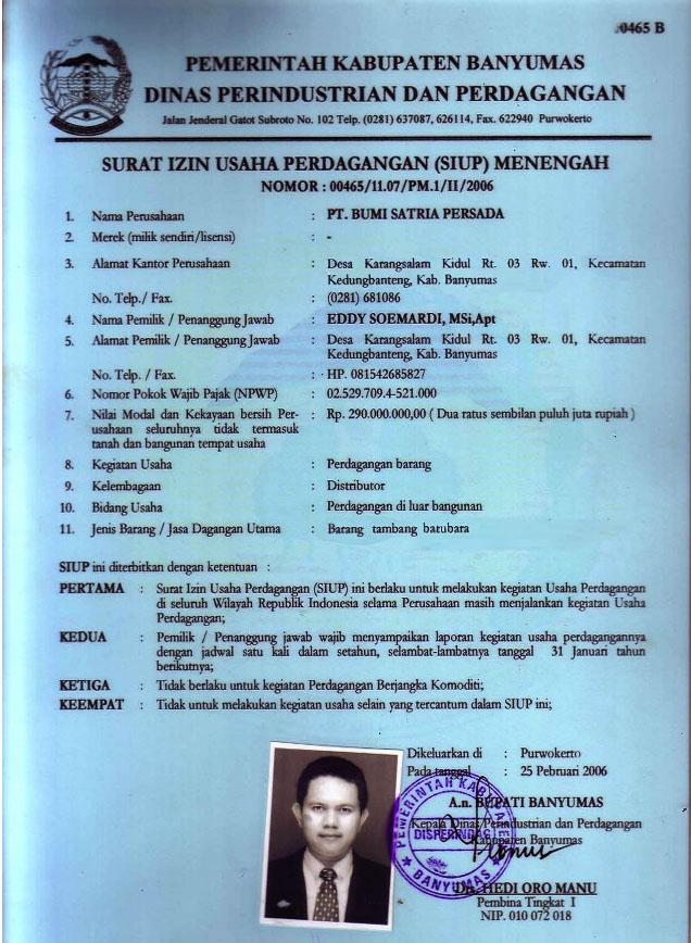 jasa urus siup tdp cv amp npwp kabupaten malang
