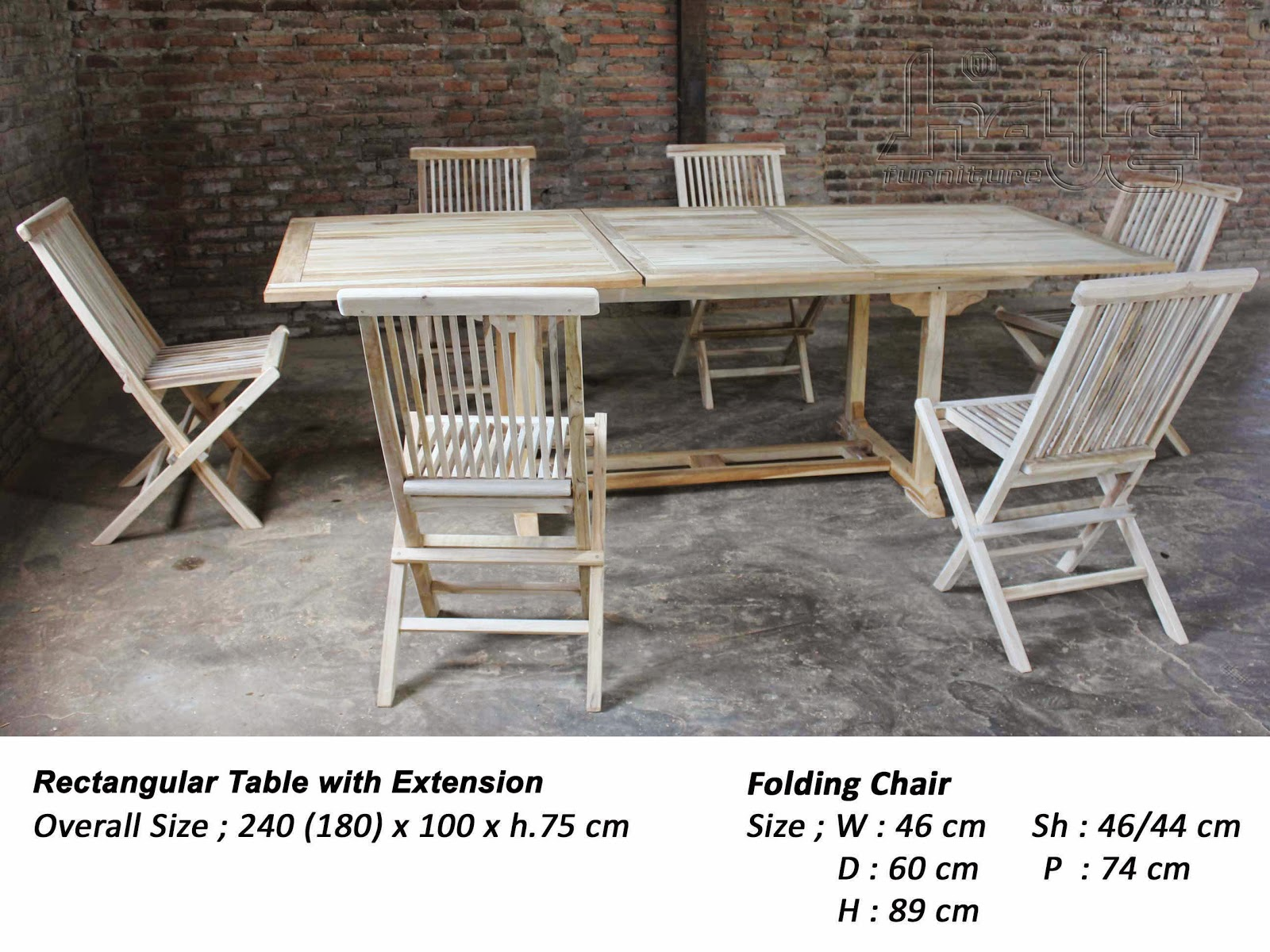 rect table & folding chairs