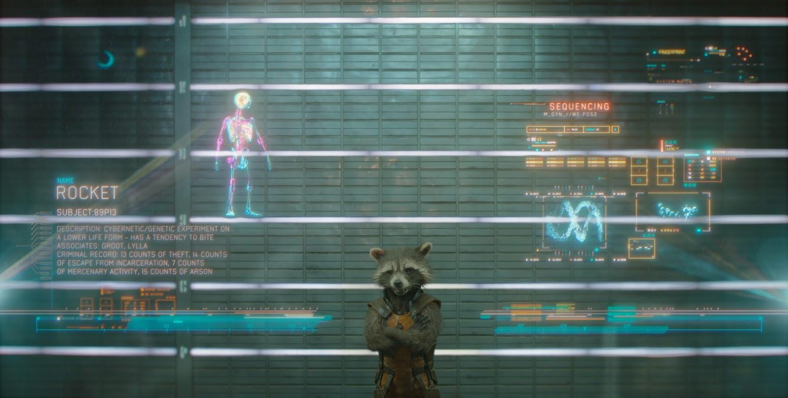 Rocket Racoon en Guardianes de la Galaxia