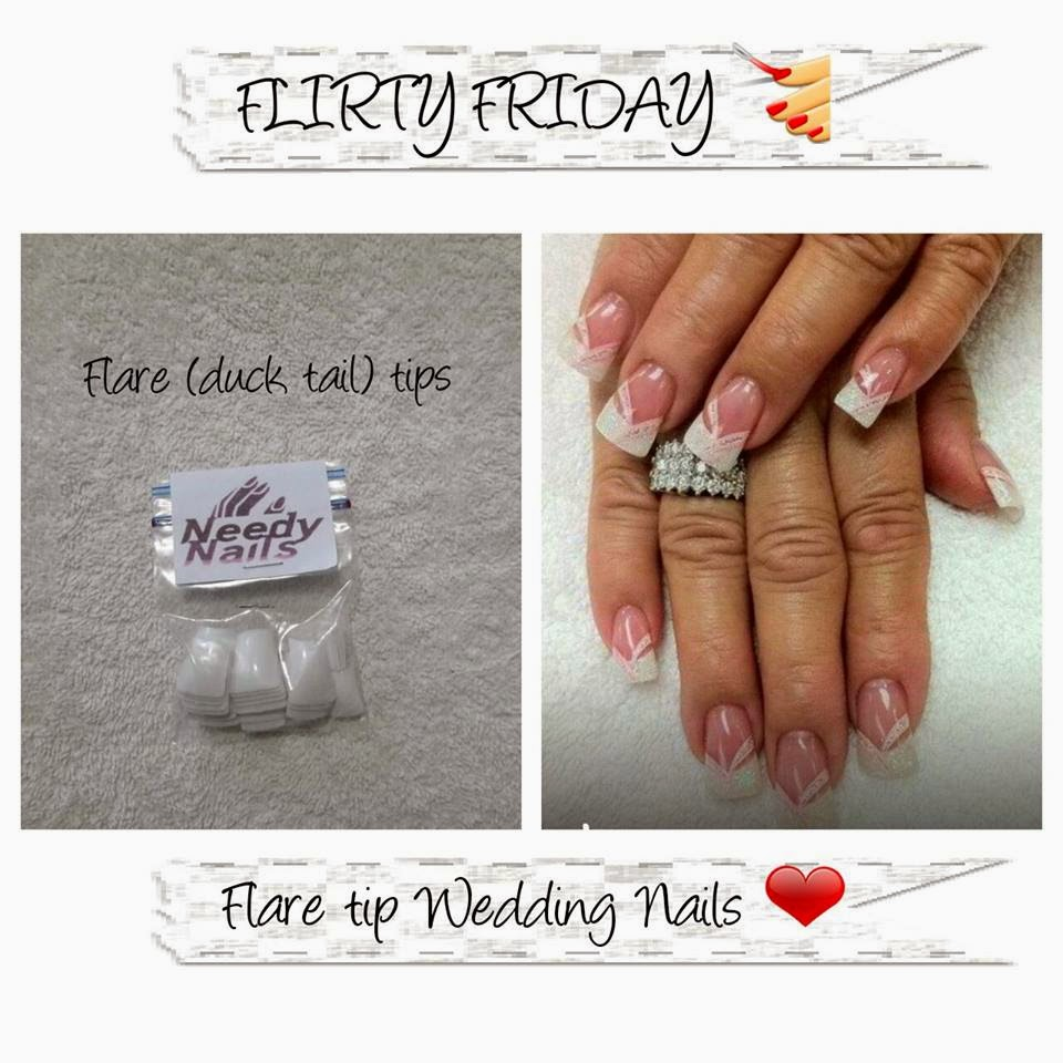 French white flare duck tail tips with Shellac chevron striping wedding manicure pedicure extensions baby pink Shellac topped in matte and a lace design