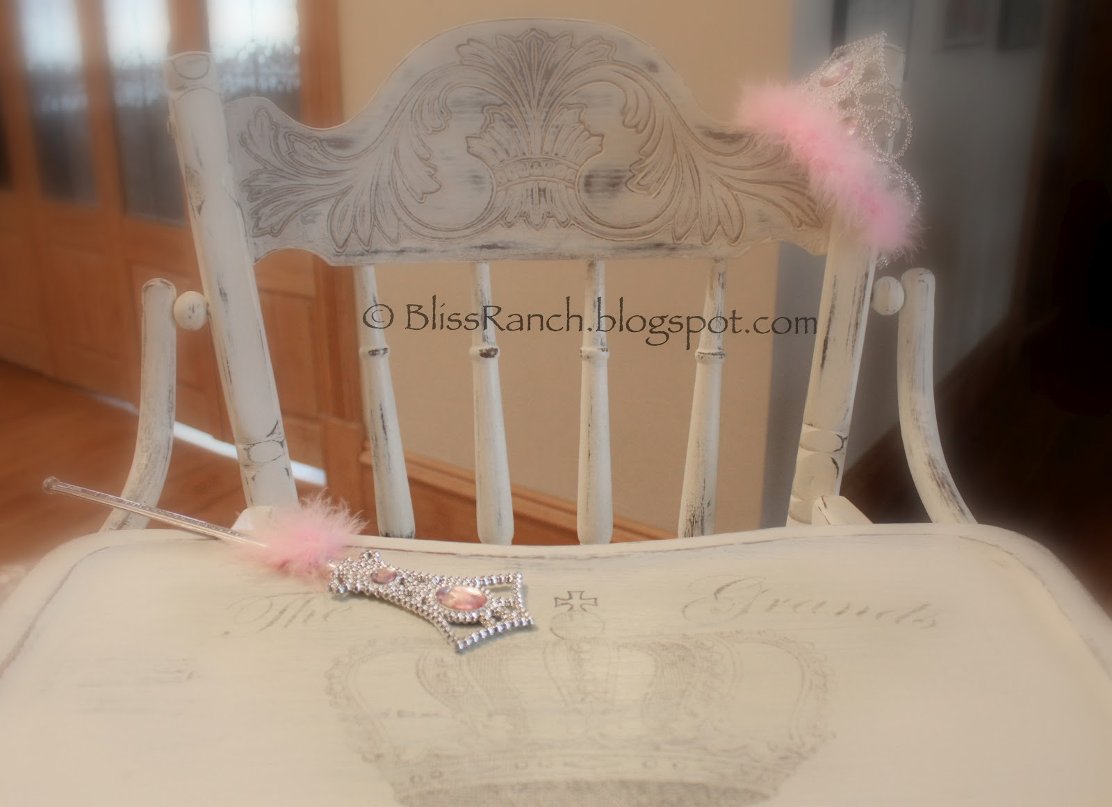 Painted High Chair Bliss Ranch.com #76472C
