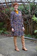 Secret Winter Layers Boho Dress And Otk Boots. Fake
