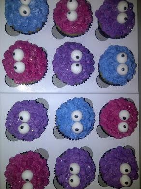 Funky Alien Cupcakes
