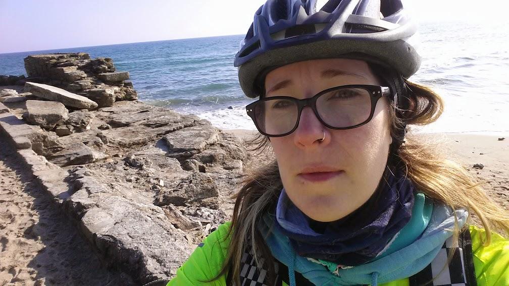 Cycling the Pentewan Beach Cornwall