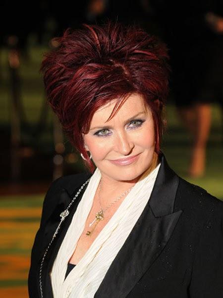US Winter Fashion Sharon Osbourne New Hairstyles 2012