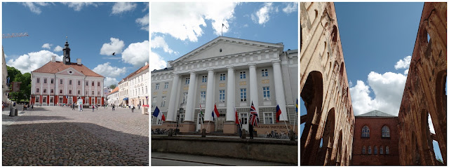 Tartu Estonia City Hall Main Square University Old Cathedral
