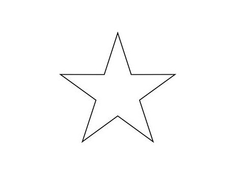 Star Pattern To Cut Out I printed out this star image