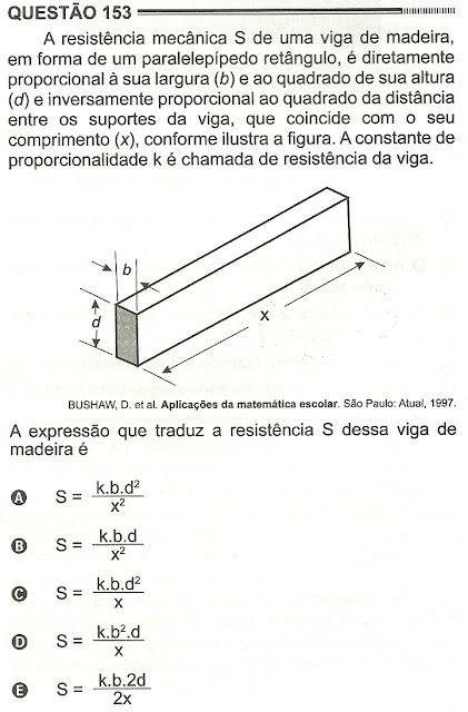 Exercício Resolvido Enem 2012 - Questão 153 (caderno amarelo - 2º dia)