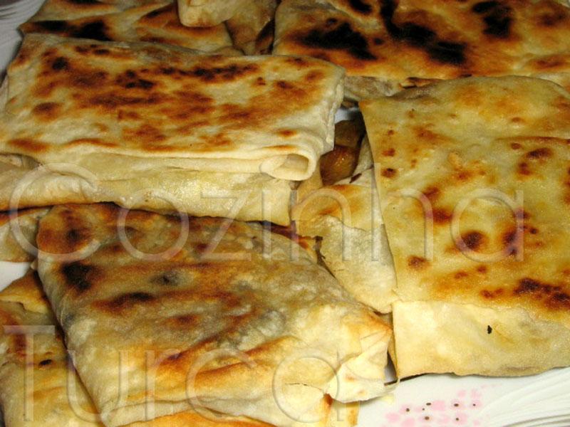Crepes de Cogumelos (Mantarlı Gözleme)