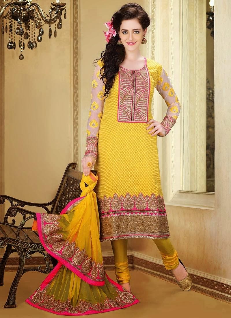 indian designers churidar suits beautiful dress 201314