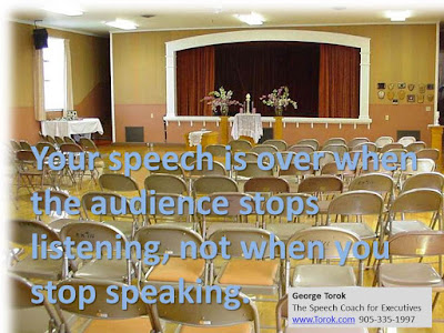 Your audience stops listening