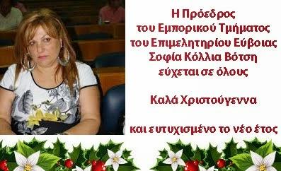 Σοφία Κόλλια Βότση Πρόεδρος Εμπορικού Τμήματος Επιμελητηρίου Εύβοιας