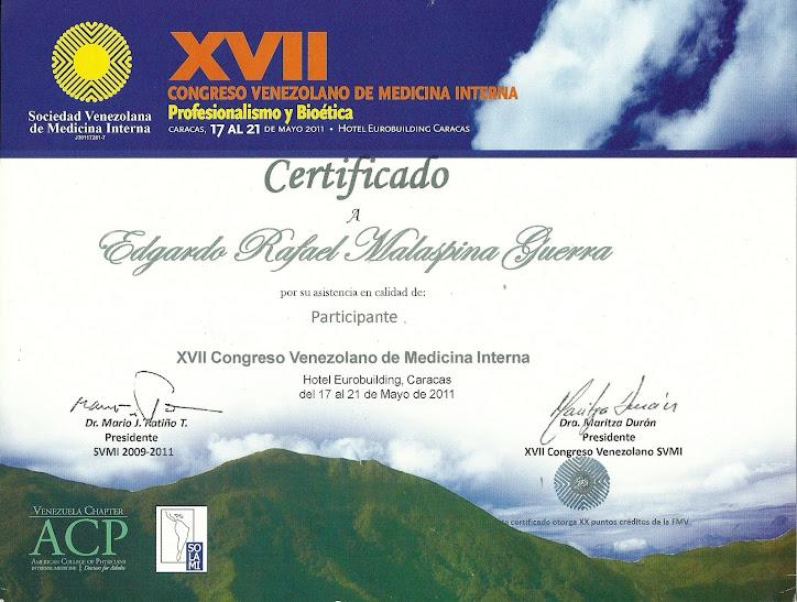 XVII CONGRESO DE MEDICINA INTERNA